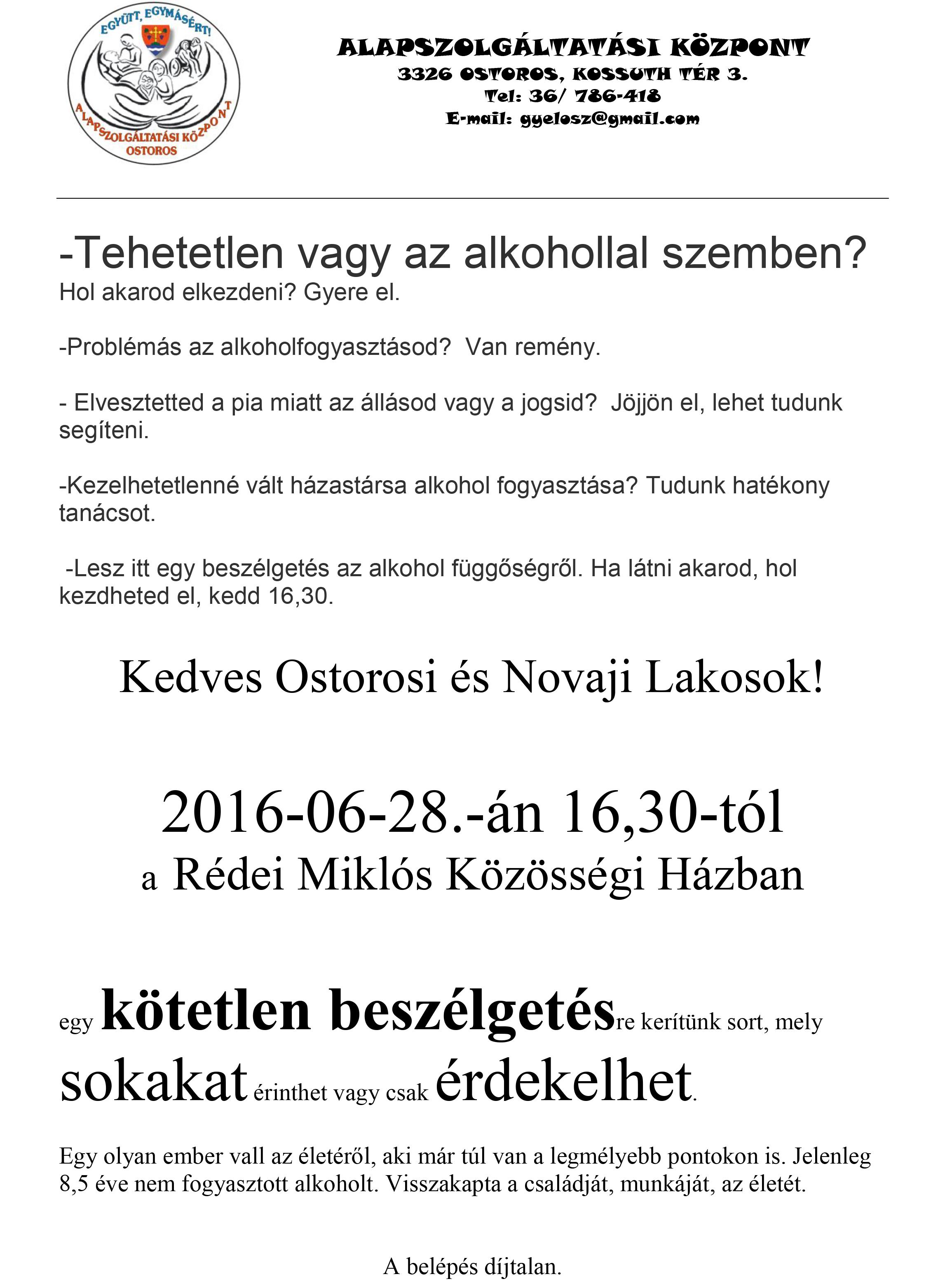 alkoholista plakát